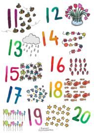 A2 poster - Onderbouw - Cijfers 11 t/m 20