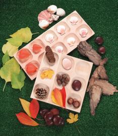 Houten sorteer tray (met 9 vakken)
