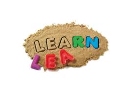 Zand vormen alfabet - hoofdletters