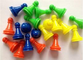 Spel pionnen (set van 100 st.)
