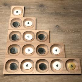 Houten 1,2,3,4,5- vakken tray (set van 5)