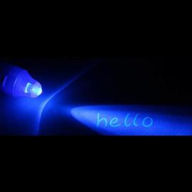UV pennen met onzichtbare inkt en lampje (set van 6 st.)
