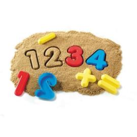 Zand vormen cijfers en bewerkingen