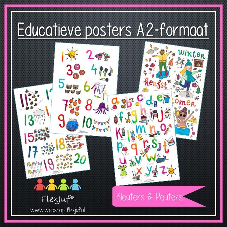 A2 poster - Voordeelset Onderbouw (4 posters)
