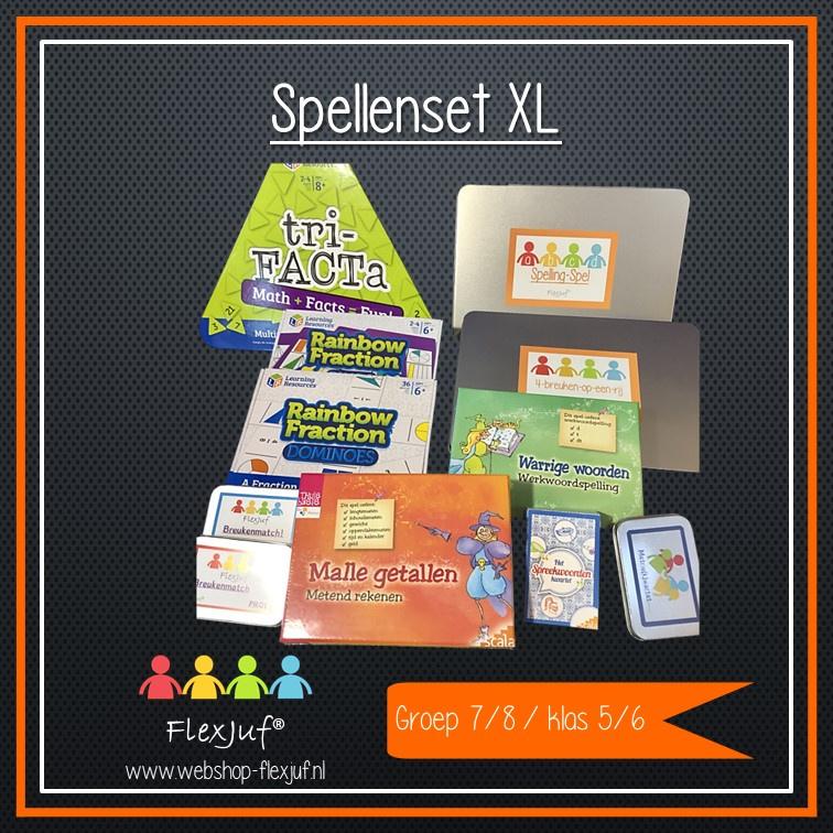 Spellenset XXL Taal , spelling en rekenen groep 7/8