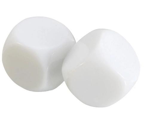 Blanco dobbelstenen, 6 kantig (SET van 25 st.)