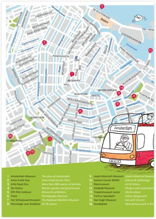 XXL speel- en kleurplaat van Amsterdam