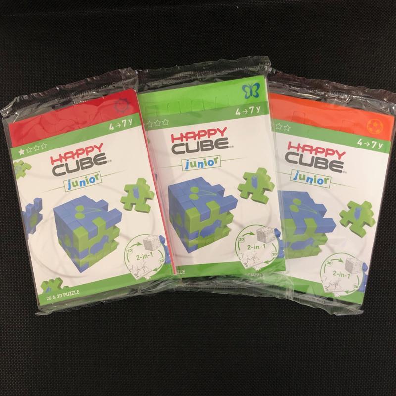 Happy Cube Junior - set van 3 (rood, groen, oranje)