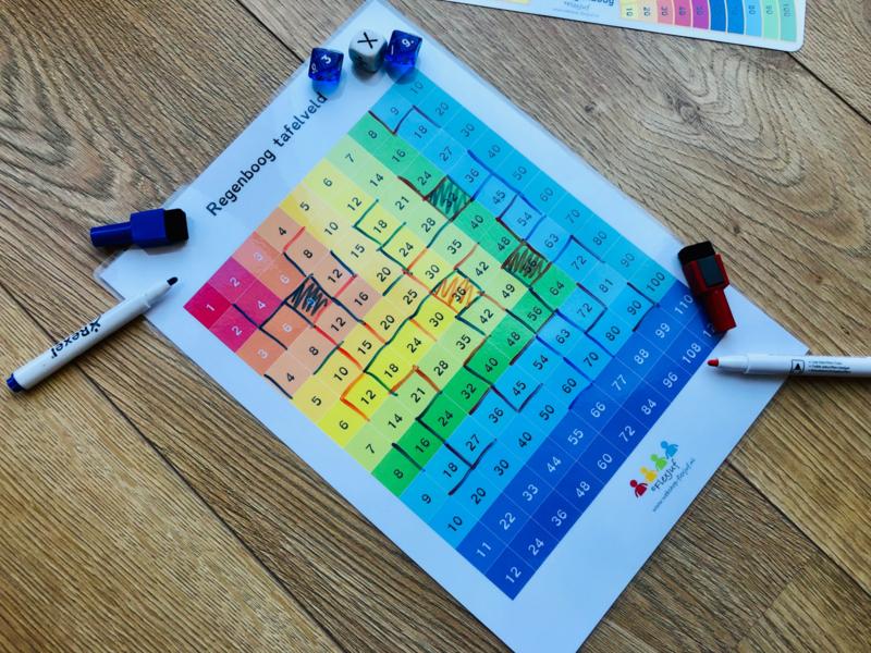 Regenboog tafelveld wisbordje klassenset (30 st.)