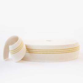 elastische tailleband 3 gouden lijnen