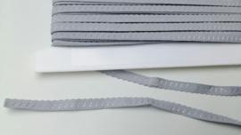 vouwkant elastiek grijs