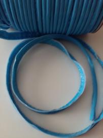 Paspel-lint kunstleer azuur blauw