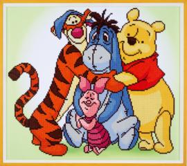 Diamond painting Winnie the Pooh en zijn vrienden