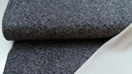 gespikkelde tricot, zwart/grijs