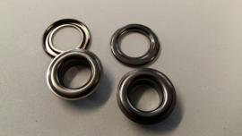 Ogen/nestels oud zilver 10 mm
