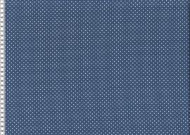 Polka dots denim blauw