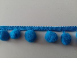 Pomponlint blauw