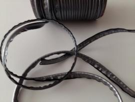 Paspel-lint kunstleer donker grijs