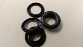 Ogen/nestels zwart 10 mm