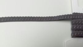 vouwkant elastiek donker grijs