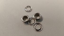 Ogen/nestels aluminium 8mm