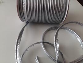 Paspel-lint kunstleer licht zilver