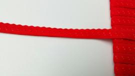 vouwkant elastiek rood
