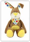 Kullaloo 'Cuddly monster' konijn beige