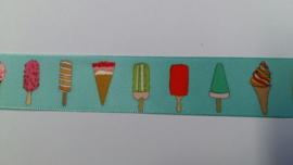 satijnlint met ijsjes