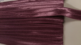 Elastische biais aubergine