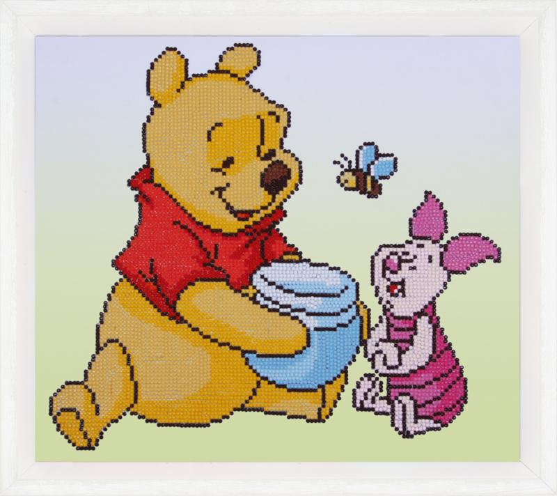 Diamond painting, Winnie the pooh met knorretje