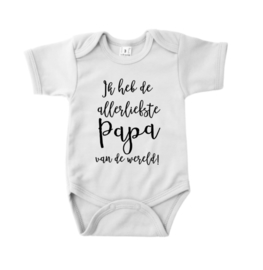 "Romper  ""Allerliefste papa"" wit"
