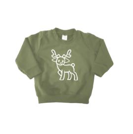 """Rendier sweater """"Groen"""""""
