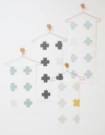 Behang Cross antraciet
