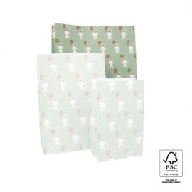 Block bodem zakjes - Baby Bunny - 27x15x34 cm
