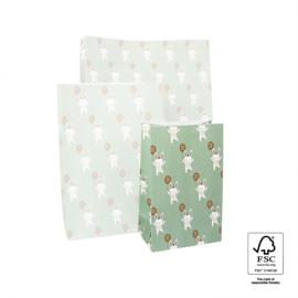 Block boden zakken - Baby Bunny - 12x07x19 cm