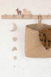 Behang Honingraat wit- nude/brons