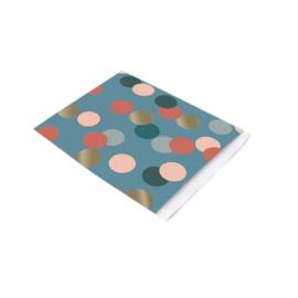 Vlakke zakjes confetti