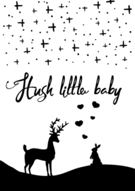 Hush little baby postcard