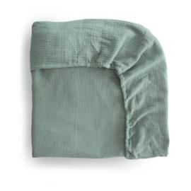 Extra Soft Muslin Crib Sheet (Roman Green)