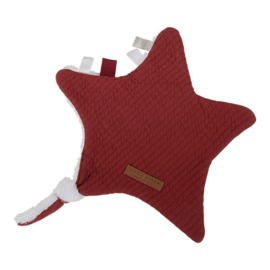 Knuffeldoek ster Pure Indian Red