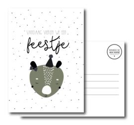 Vandaag vieren we een feestje   Postcard