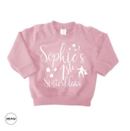 """Mijn eerste sinterklaas sweater """"Roze"""""""