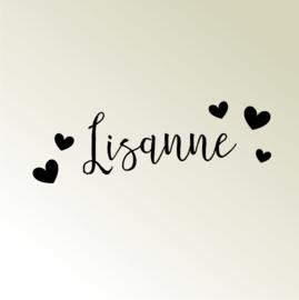 "Naam sticker ""Romance"""