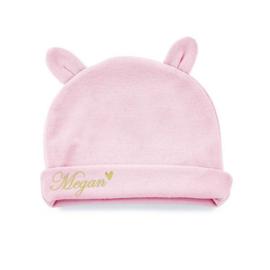 """Baby muts met naam en oortjes """"Pink"""""""