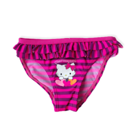 Hello Kitty neon pink/purple stripes zwembroek