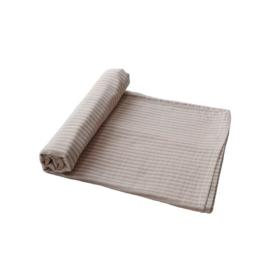 Muslin swaddle blanket natural stripe