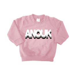 "Rounded letter naam shirt ""pink"""