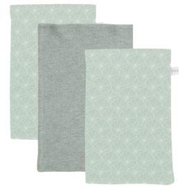 Washandjes set Lily Leaves Mint