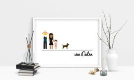 Familie poster kleur